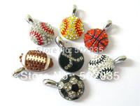 24pcs rhinestone mix style balls  Hang Pendant Charm Fit key Chain Phone Strips Necklace Brand New