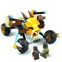 Free Shipping! BELA 10054 Chima God Beast Qigong Legend, Spirit Lion Attack Car, Children's Educational Blocks Assembled Toys!