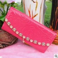 2014 New Fashion Women Wallets Zipper Wallet Chance Long Design Female's Retro Purse Clutch Bag Card Package Money Clip SZMW08