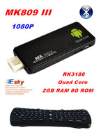 U03 Flying Keyboard + U32 Bluetooth MK809 III Rockchip RK3188 Quad Core Androind 4.2 Mini PC TV Stick 2GB RAM 8GB ROM