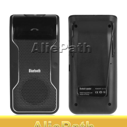 New Wireless Bluetooth Car Kit Handsfree Speakerphone Speaker Phone Hands Free Car Bluetooth Handsfree Kit + Car Charger(China (Mainland))