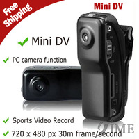 10pcs MD80+Bracket+Clip,Black Sports Video Camera Mini DVR Camera & Mini DV Drop Ship With Tracking Number,Free Drop Shipping