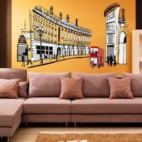 1PC 100*68cm Rome Living Room Vinyl Wall Art Decals 3D Wallpapers On Walls Shelf Decoration Stickers Poster Wall Film Home Decor