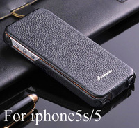 Free shipping New fashion luxury orginal brand vintage genuine leather case cover for apple iPhone5s 5 5G embossed flip case