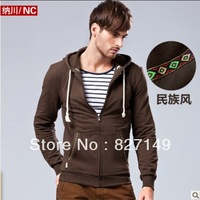 2013 TOP Designer Brand Men Sweater  96% Cotton Fleece Full Zip Hoodie FREE SHIPPING