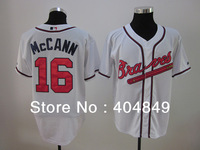 AA+ 16 multiple Brian McCann jersey,Braves new home white navy red pink authentic,custom women youth baseball free shipping
