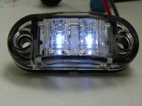 Free shipping 10 Pcs Clean Lens Side Marker light Clearance Trailer Truck light Emark/DOT/SAE waterproof Multivolts10-30v