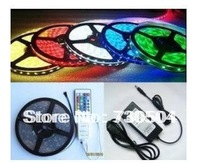 RGB 3528 SMD LED Strip Light + Remote Control 24key + Adapter 12V 5A Free by China Post