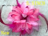 new arrival Mangnolia 5.5inch feather flower headband accessories wholesale 30pcs/lot wholesale free shipping newborn
