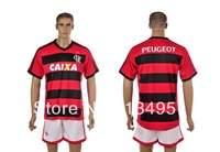 2013/14 Brazil Flamengo RJ club blank mens football soccer jerseys embroidery customize logo home red away white