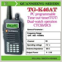Portable Two Way Radio QUANSHENG Two Way Radio UHF/UHF Multiband Transceiver  TG-K46AT Free Shipping
