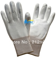 PU Work Gloves PU ESD Work Gloves ! 13 Guage Nylon Polyester Lining With PU (polyurethane) Dipped Anti Static Work Gloves