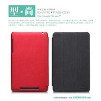 Nillkin Folio Side Flip Stylish Leather Case & Stand - Google Nexus 7 II Free Screen Protector 100% Brand New Black/Red