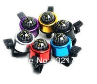 Free shiping,colorful mountain bike bicycle bell ring with compass,suit for the frontbar dia less than 2.5cm bike
