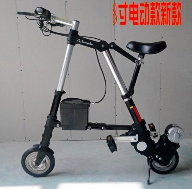 Top quality 24V 8Ah 250W Lithium battery 8 Folding Electric Bicycle 24km h RWD E bike