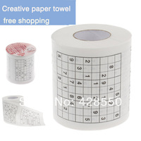 HOT sales ! Novelty Sudoku Puzzles Pattern Toilet Paper Roll Tissue multicolour table napkin paper  toilet paper paper napkins