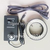 New White Brightness Adjustable Ring Light for Stereo Microscope 60 LED Ring Lamp with Adapter 220V or 110V