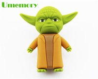 Retail 2gb 4gb 8gb 16gb 32gb bulk silicone star wars master yoda usb flash drive pen drive memory stick Drop Free shipping