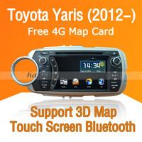 Car DVD Player GPS Navigation fit Toyota Vitz Yaris 2012 2013 - Auto Radio Touch Screen Bluetooth TV USB SD iPod Radio RDS AUX
