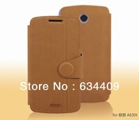4Color,Original Mofi High Quality leather case for Lenovo A630T,100%Real cowhide cover,Free shipping