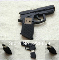 Free Shipping, New Cartoon Fashion Pistol usb 2.0 memory flash stick pen thumbdrive, usb flash drive 1-32GB