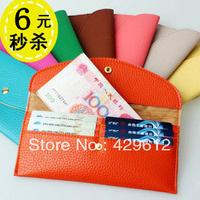 Women's snap button long design Women wallet coin purse card holder female bags