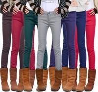 plus size XS-XXXXL winter warm plus velvet thickening jeans trousers female skinny  pencil pants female
