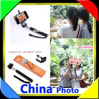 Gopro Handheld Monopod  2ni1 DHL 50sets (50pcs monopod +50pcs clip holder)Tripod Mobile phone  for i9300 i9500 n9006 n7100 DV
