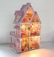 2013 new fashion Diy anime model doll house handmade gift 3D children puzzle toys for baby action figure