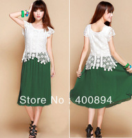 WHOLESALE   Womens Summer Crochet Tops  Bohemian Ruffle Pleated Beaded Beach Long Sun Dress