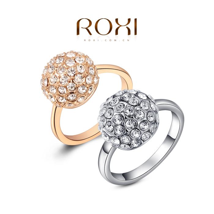 ROXI Gifts Genuine Austrian Crystals Rings Top Quality Beautiful, 100% Hand Madeball Jewelry,2010001330(China (Mainland))