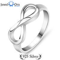 #RI101137Jewelry Rings For Women 8-Shaped Knot Hollow Twist Flowers Brand 925 Sterling silver S925 Stamped Lady Infinity Ring