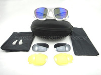 100% Authentic Jacket Bicycle Outdoor Sports Sunglasses Eyewear Goggle Sunglasses 3 color lens with original package