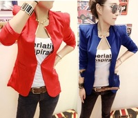New Womens Korea Fashion Metal Collar Slim Shrug Blazer Coat 5 Colors E604