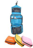 1pcs Women Waterproof Solid Zipper Foldable Nylon Travel Wash Bags (13*20*5cm, 4 Colors)