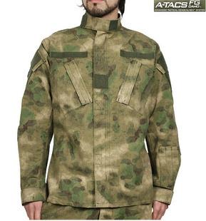 ACU A-TACS FG FOLIAGE GREEN Camouflage suit sets BDU Military Combat Uniform Garment sets Jacket + Pants  YY5111