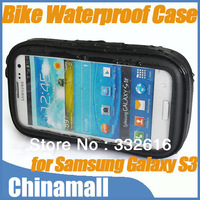 Waterproof Motorcycle Bicycle Bike Mount Holder Case Bag Pouch Cover for Samsung Galaxy S3 I9300 Free Shipping & Drop Shipping