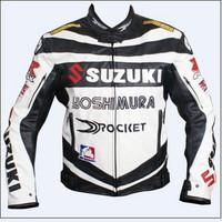 Motorcycle Jackets suzuki moto jacket, PU leather motorcycle jacket  jersey motocross jaqueta moto 2 colors motorbike road race
