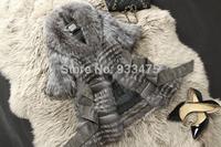 Genuine Fox Fur Coat Fashion Women Nature Fox Fur Jacket Winter Warm Long Fox Fur Outerwear EMS Free Shipping TP9001