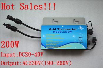 Grid tie inverter,200W,Waterproof IP67 Pure sine wave inverter, Waterproof Solar Micro  Inverter  220V output,with MPPT function