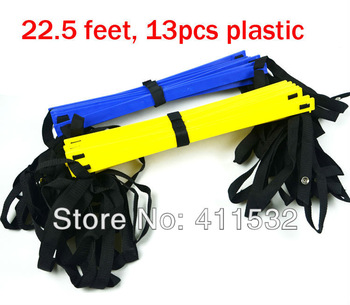Free shipping 1pc/lot 22.5 FOOT Soccer Training Speed agility ladder Quick Flat Rung Agility Ladder+ carry bag LA-30-155
