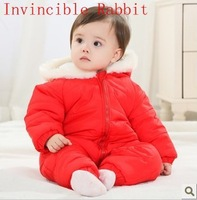 2013 Baby BOY Romper Infant Thickening Long-SleeveNewborn Autumn Winter Jumpsuit Open File Wholesale And Retail Free Shipping