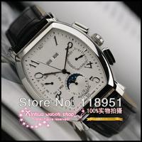2014 Original True Sapphire belt automatic mechanical hollow barrel-type digital scale luxury Swiss men's watch 3 calendar