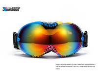 Free shipping 2014 new Dual PC lens Dual layer foams Anti-fog, 100% uv protection ski goggles/Snowboards & Skis eyeswear  OK266