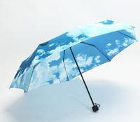 Personalized Umbrella  Blue Sky Umbrella Sola Fashion Rain  Arch Umbrella