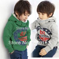 fashion hoodies boys Autumn/Winter children's clothing child boy 100% cotton sports casual sweatshirt  warm outdoor coats