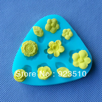 Free shipping 3D Silicone Mold Flower and Leaves Shapes Mould For Soap Candy Chocolate Ice cake