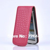 High Quality Vertical Crocodile Pattern Flip Leather Cover Case for Samsung Galaxy S3 SIII I9300 Free Shippping