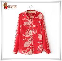 S-L fall fashion shirts women's 3 size chiffon shirt long-sleeve top women's blouse hot selling good price