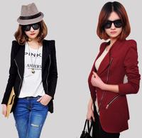 OISK WOMAN SUIT BLAZER FOLDABLE BRAND JACKET women clothes suit Zipper shawl cardigan Coat S-XL